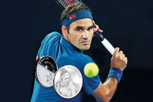 Roger Federer to become first living person to be celebrated on Swiss coins