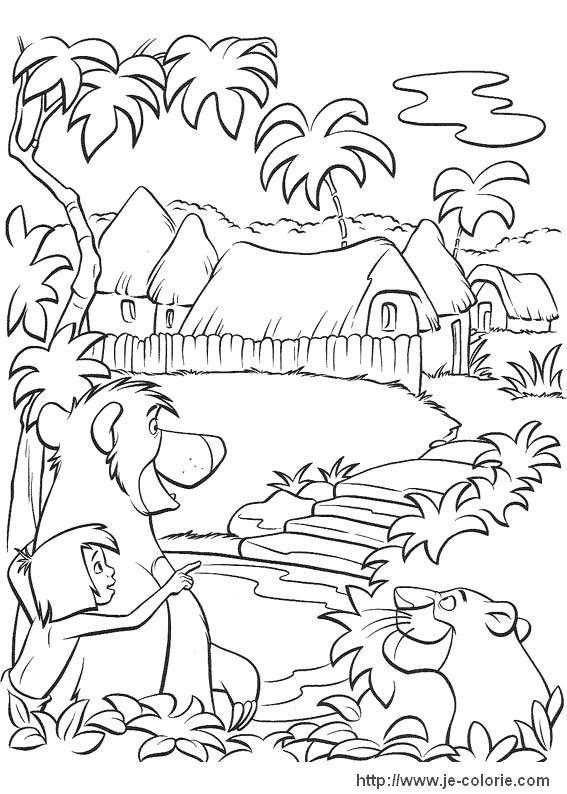 Coloriages Le livre de la jungle