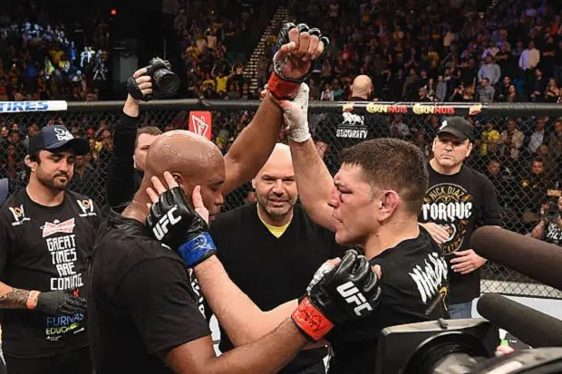 Anderson Silva chamou Nick Diaz para uma revanche pelo Ultimate (Foto: Getty Images)