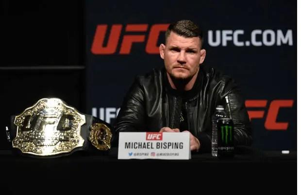 Michael Bisping exigiu uma atitude de Georges St-Pierre sobre possível duelo (Foto Getty Images)