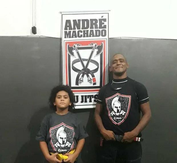 Além de competidor e líder de equipe, André Machado é pai de uma competidora (Foto: Divulgação)