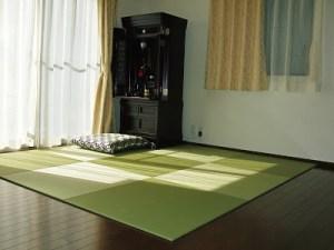 with a Buddhist altar.