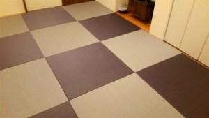 畳の設置しました、思ったより雰囲気が良く大満足です!