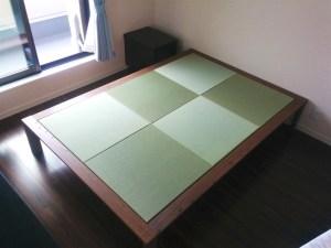 市松模様の畳ベッドをDIY