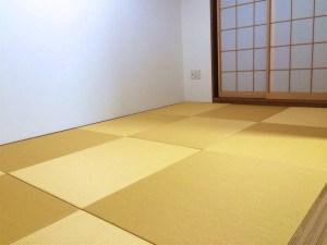畳を美草目積イエローで入替えてお部屋が明るくなりました
