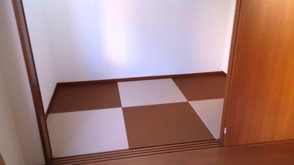 2色使った畳の部屋