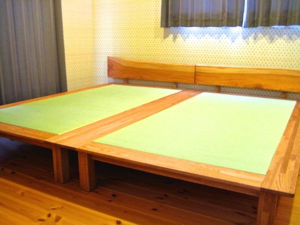 自作ベッド に畳を発注