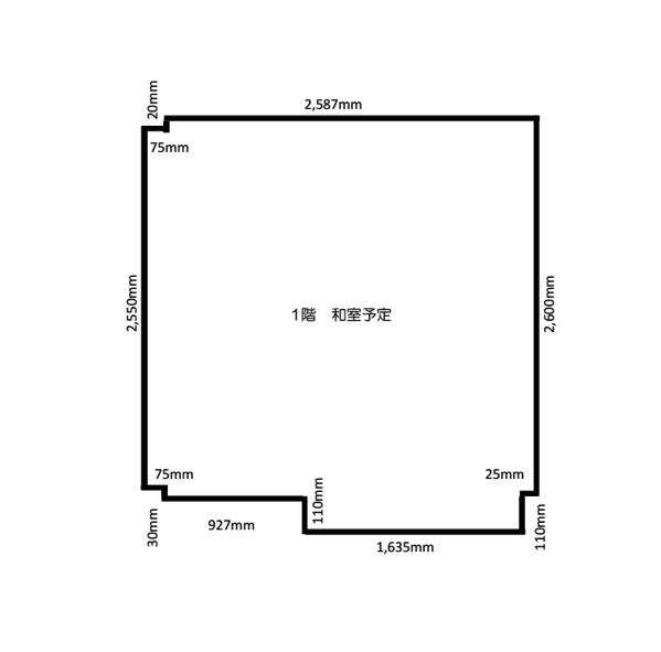 柱部分が多い畳の部屋