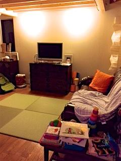 テレビと畳