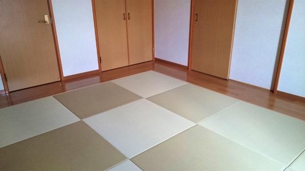 清流 若草色 琉球畳で製作した部屋