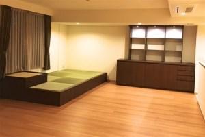 お客様ののご希望に応じたオリジナル家具の畳収納