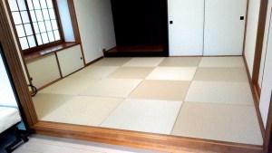 中古物件の和室リフォームに美草市松リーフグリーンの畳を敷いて魅力がアップした部屋【DIY畳】