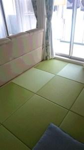 お客様事例 清流01(銀白)サイズオーダー置き畳
