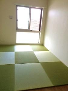 置き畳を製作可能な最大巾でコストダウンに成功