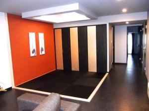 黒い畳でクールな大人専用スペース【マンション和室製作事例】