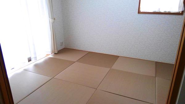 お客様ご自身で畳を敷くことに成功