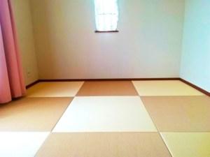清流(和紙表)10乳白色と15白茶色を組み合わせた2色使った畳部屋_神奈川県横浜市