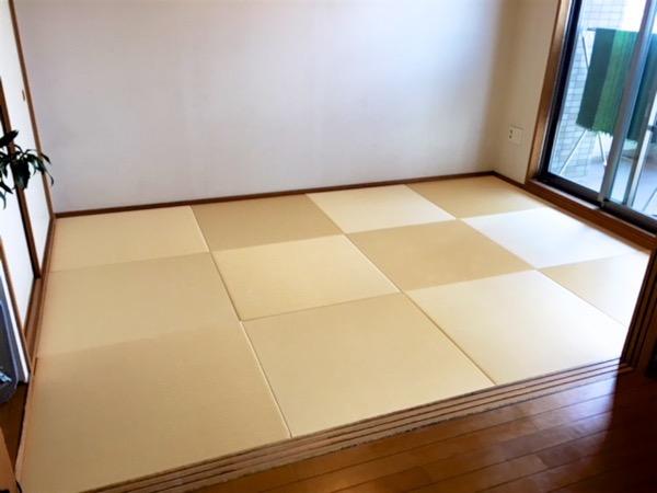 琉球畳の部屋が完成しました