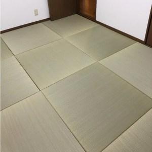 畳を全面に敷き詰めて、木質フローリングとは違った、温もりと柔らかさ感じる畳の床にDIY