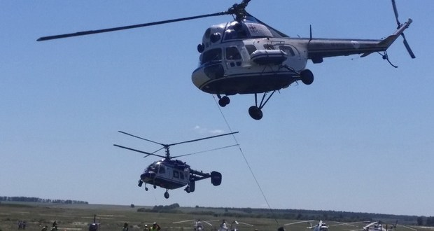 Над Куркачами вертолеты творили чудеса