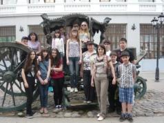Учащиеся гимназии в Казани