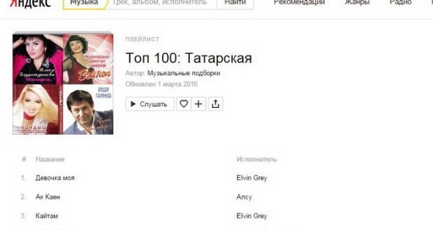 «Яндекс.Музыка»да татарча көйләр
