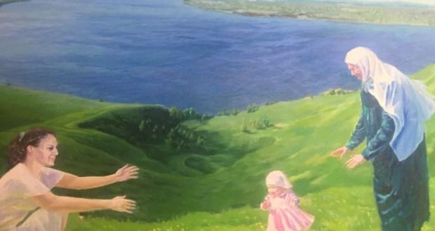 В Долгоостровской школе открылась выставка картин Мидхата Шакирова