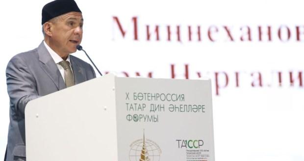 Татарстан Президенты бердәмлекне һәм традицион тормыш рәвешен ныгытырга чакырды