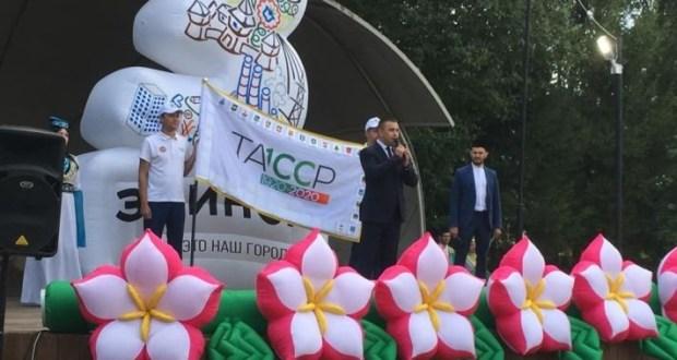 Заинцы приняли эстафету флага 100-летия ТАССР
