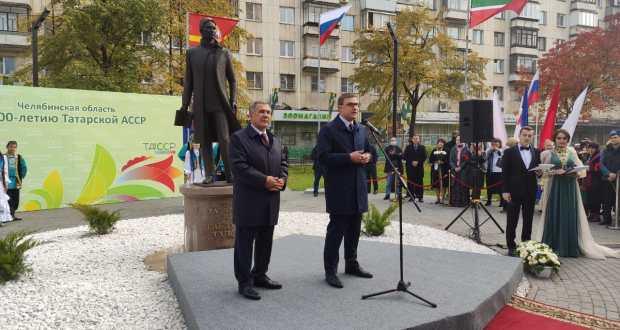 В Челябинске состоялось открытие памятника выдающемуся татарскому поэту Г.Тукаю