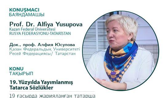 КФУ галимәсе Әлфия Йосыпова онлайн-җыенда беренче татар сүзлекләре турында сөйләде