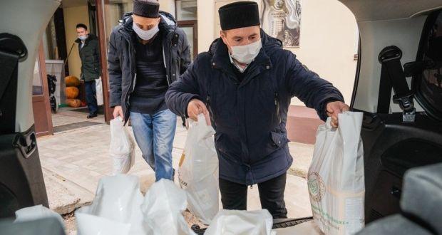 Нәзарәтнең «Зәкят» фонды 120 мохтаҗга азык-төлек җыелмалары туплап җибәрде