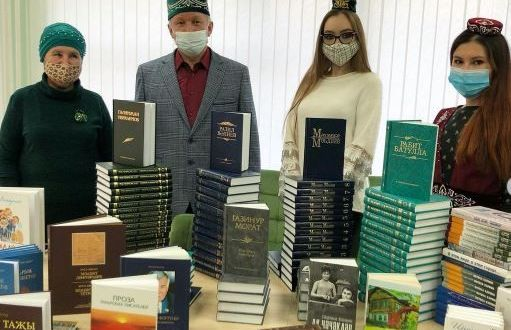 В обновлённой центральной библиотеке Магнитогорска состоялось торжественное вручение литературы на татарском языке.