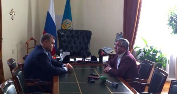 Василь Шайхразиев встретился с Губернатором Астраханской области