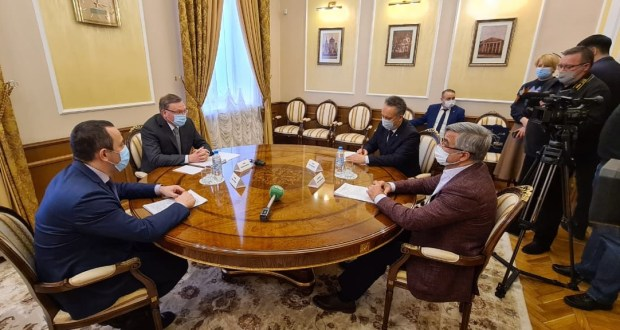 The Chairman of the National Council met with the Governor of the Omsk Region