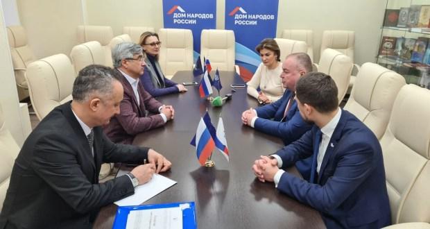 Председатель Нацсовета встретился с директором Дома народов России