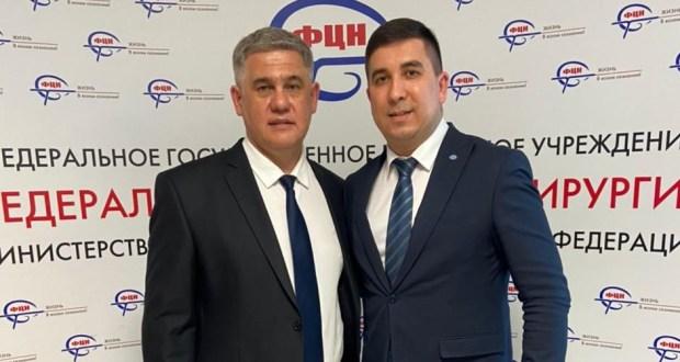 Данис Шакиров встретился с главным врачом Федерального центра нейрохирургии Альбертом Суфиановым