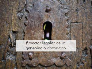 Aspectos legales de la genealogía doméstica