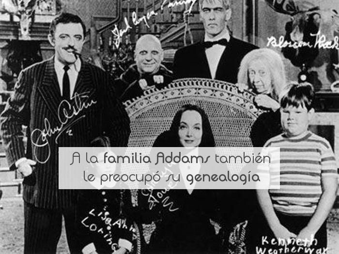 A la familia Addams también le preocupó su genealogía