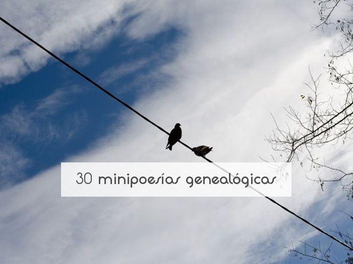 30 minipoesías genealógicas