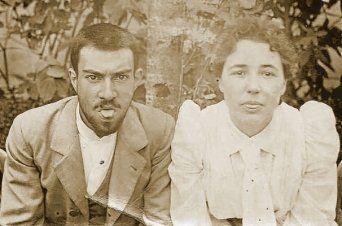 Fotografía de la pareja Jaume Baladia i Soler y Teresa Mestre
