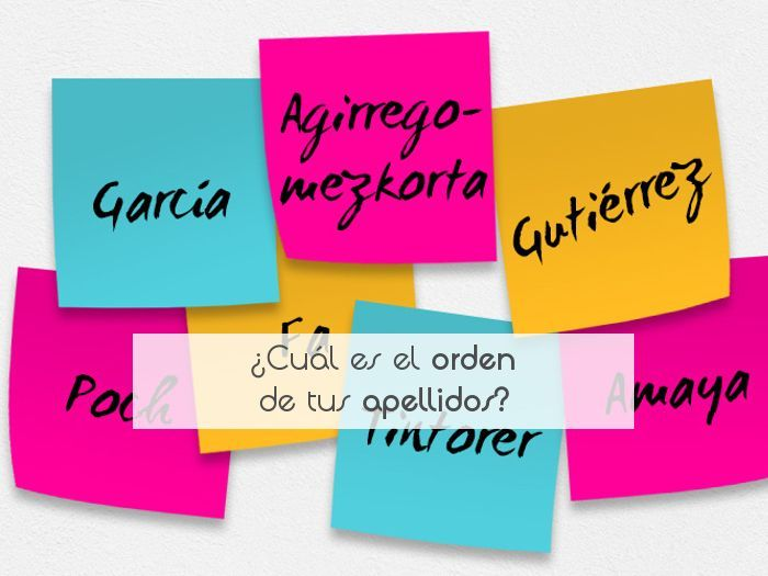 ¿Cuál es el orden de tus apellidos?