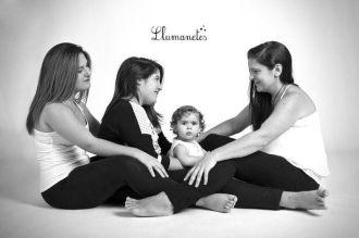 fotografía de familia. Llumanetes