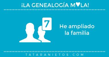 La genealogía mola. He ampliado la familia