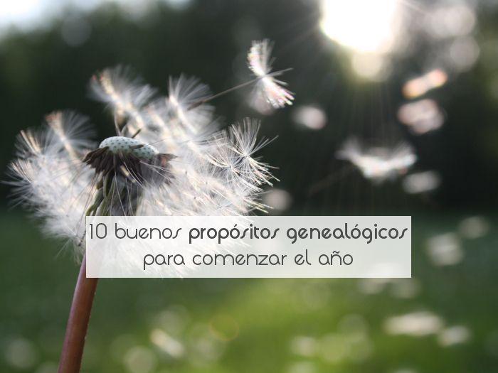 10 buenos propósitos genealógicos para comenzar el año