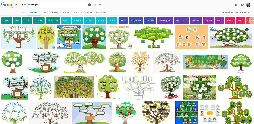 modelos árbol genealógico Google