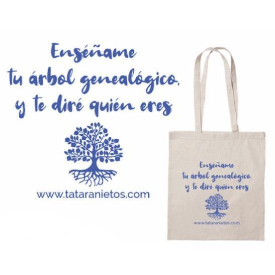 "Tote bag ""Enséñame tu árbol genealógico"""