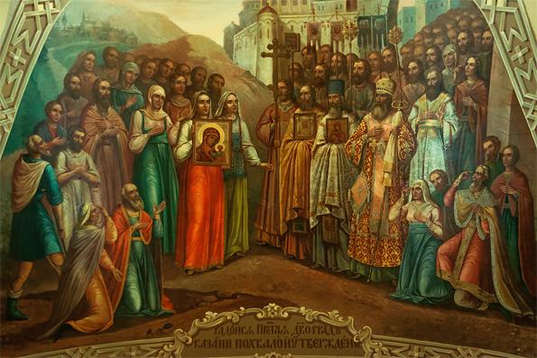 Икона Казанской Богоматери в хронологии российской истории