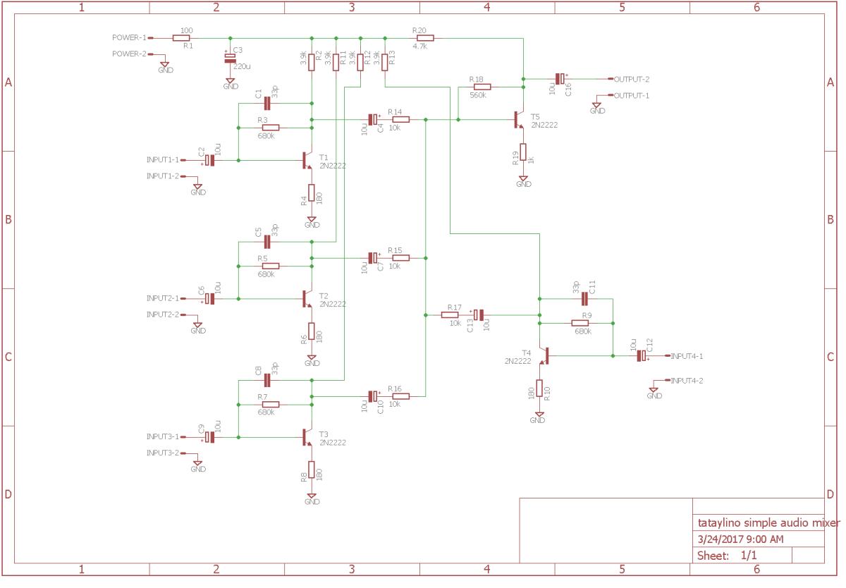 Simple Mic Mixer