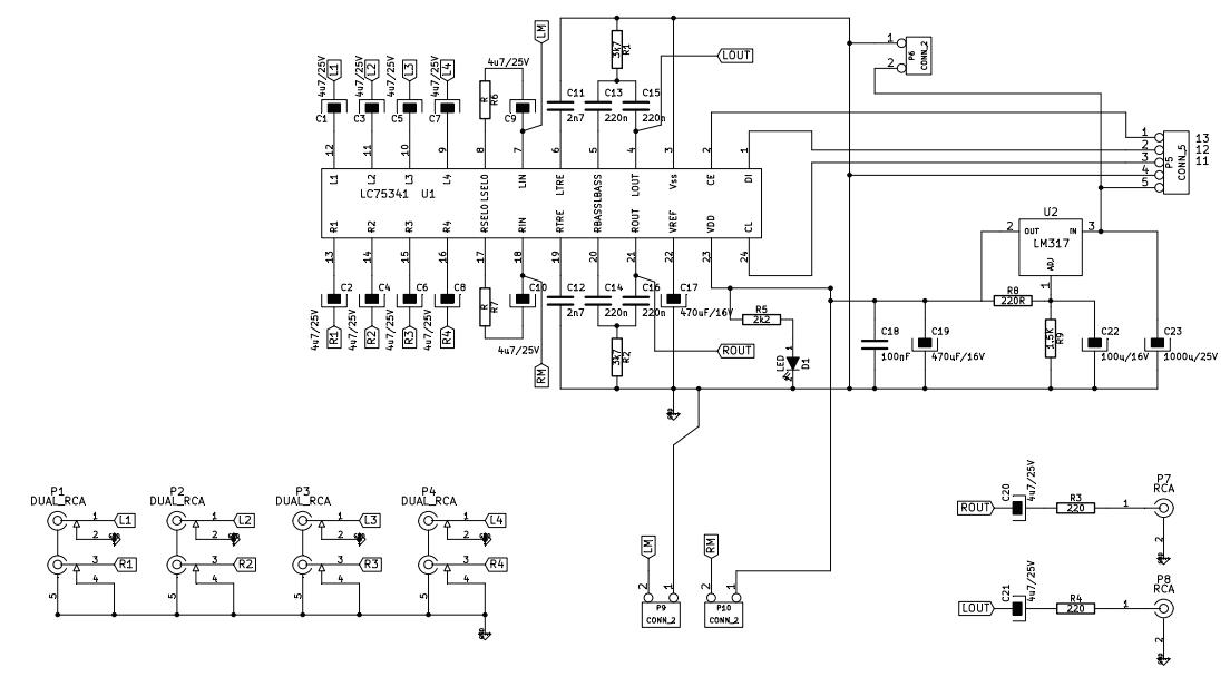 LC75341 tone control using arduino